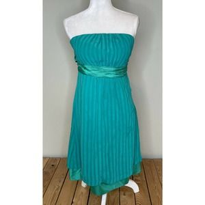 MOULINETTE SOEURS Strapless Silk Dress Size 6